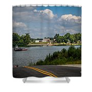 Ohio River At Cave In Rock Illinois Shower Curtain