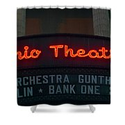 Ohio Theater Marquee Theater Sign Shower Curtain