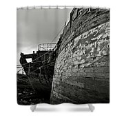 Old Abandoned Ships Shower Curtain