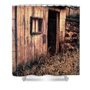 Old Barn Door Shower Curtain