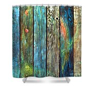 Old Barnyard Gate With Colors Brightened Shower Curtain