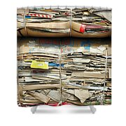 Old Cardboard Boxes Shower Curtain