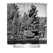 Old Forge Lighhouse Shower Curtain