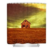 Old House On The Hill Shower Curtain by Edward Fielding