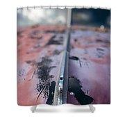 Old Junker Car  Shower Curtain