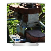 Old Junky Lawn Mower Shower Curtain