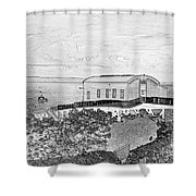 Old Lifeboat Station Tenby Shower Curtain