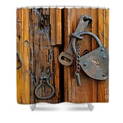 Old Lock, Mexico Shower Curtain