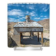 Old Mine On Old Toll Road In Death Valley Shower Curtain