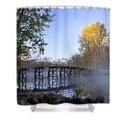 Old North Bridge Concord Shower Curtain