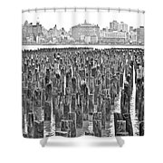Old Piers Shower Curtain