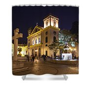 Old Portuguese Colonial Church In Macau Macao China Shower Curtain