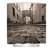 Old Street In Prague Shower Curtain