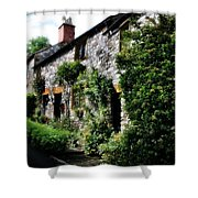Old Terrace Houses - Peak District - England Shower Curtain