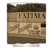 Old Time Baseball Field Shower Curtain