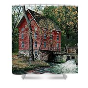 Old Time Mill Shower Curtain