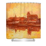 Old Torun Shower Curtain