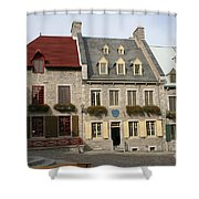 Place Royale - Old Town Quebec - Canada Shower Curtain