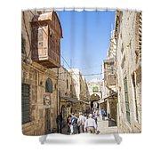 Old Town Street In Jerusalem Israel Shower Curtain