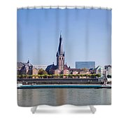 Old Town With Lambertus Church Shower Curtain