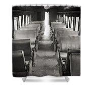 Old Train Seats Shower Curtain
