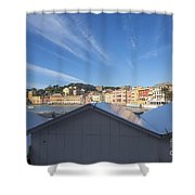 Old Village Sestri Levante Shower Curtain