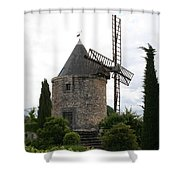 Old Provencal Windmill Shower Curtain