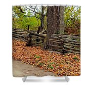 Old Wooden Fence Shower Curtain