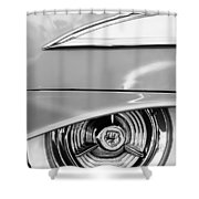 Oldsmobile 98 Wheel Emblem Shower Curtain