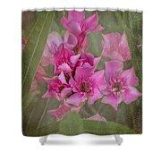Oleander Cluster Shower Curtain