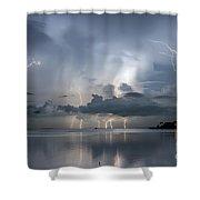 Ominous Ozona Shower Curtain