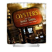 On The Half Shell Shower Curtain by Scott Pellegrin