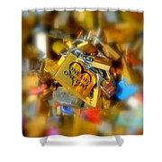 One Life One Love Padlock Shower Curtain