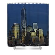 One World Trade Center At Twilight Shower Curtain
