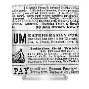 Opium Habit Cure, 1876 Shower Curtain