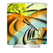 Opportunity Shower Curtain by Leon Zernitsky