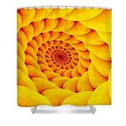 Yellow Pillow Vortex Shower Curtain
