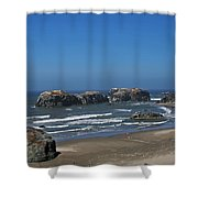 Oregon Beach And Rocks Shower Curtain