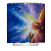 Origin Nebula Shower Curtain