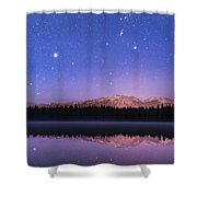 Orion Over Lake Annette Shower Curtain