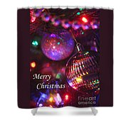 Ornaments-2160-merrychristmas Shower Curtain