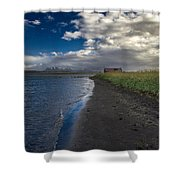 Osar Beach Iceland Shower Curtain