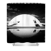 Oscar Niemeyer Architecture- Brazil Shower Curtain