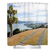 Otago Peninsula Coastal Landscape Dunedin Nz Shower Curtain