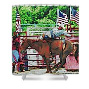 Out The Gate Shower Curtain