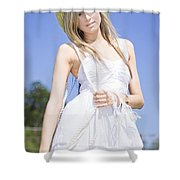 Outback Country Girl Shower Curtain