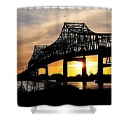 Over The Mississippi Shower Curtain