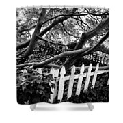 Overflowing A Picket Fence Shower Curtain