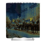 Overland Stage Raiders Homage 1938 Stagecoach 1894-2009 Shower Curtain