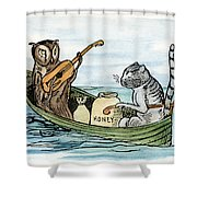 Owl And The Pussycat Shower Curtain